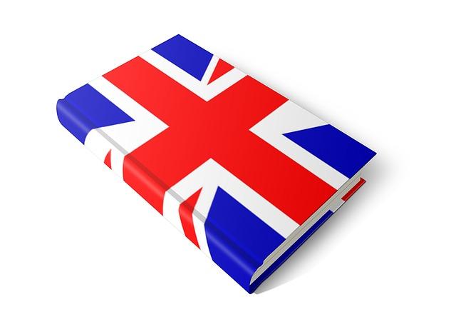 anglická kniha